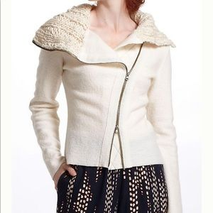 By Gro Abrahamsson Zip Up Moto Sweatercoat Size M